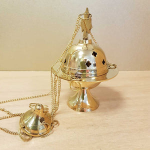 Hanging Brass Resin & Incense Censer