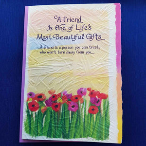 A Friend is One of Lifes Most Beautiful Gifts Greeting Card