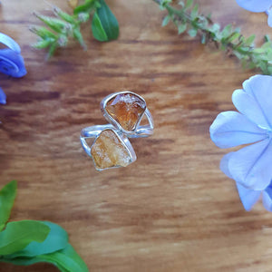 Citrine Ring set in Sterling Silver.