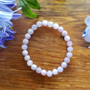 Kunzite Bracelet. (assorted. approx. 7mm round beads)