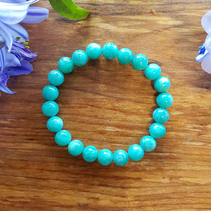 Amazonite Bracelet (assorted. approx. 8mm round beads)