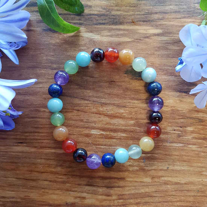 Chakra Bracelet (assorted. approx. 8mm round beads)