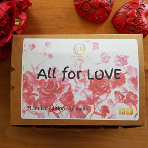 All for Love Soy Melt 6 pack. (NZ handcrafted sustainable approx 240 hours fragrance life)