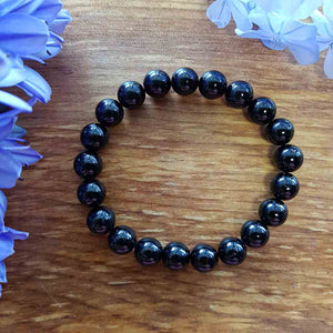 Black Obsidian Bracelet. (assorted approx. 8mm round beads)