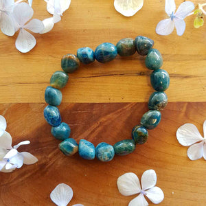 Blue Apatite Nugget Bracelet. (assorted)