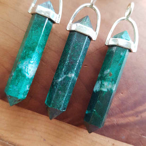 Chrysocolla Point Pendant