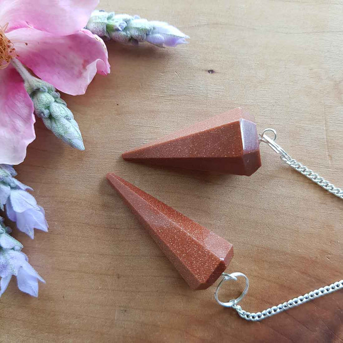 Sandstone Faceted Point Pendulum (assorted & man made)