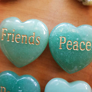 Green Aventurine Heart Affirmation Stone