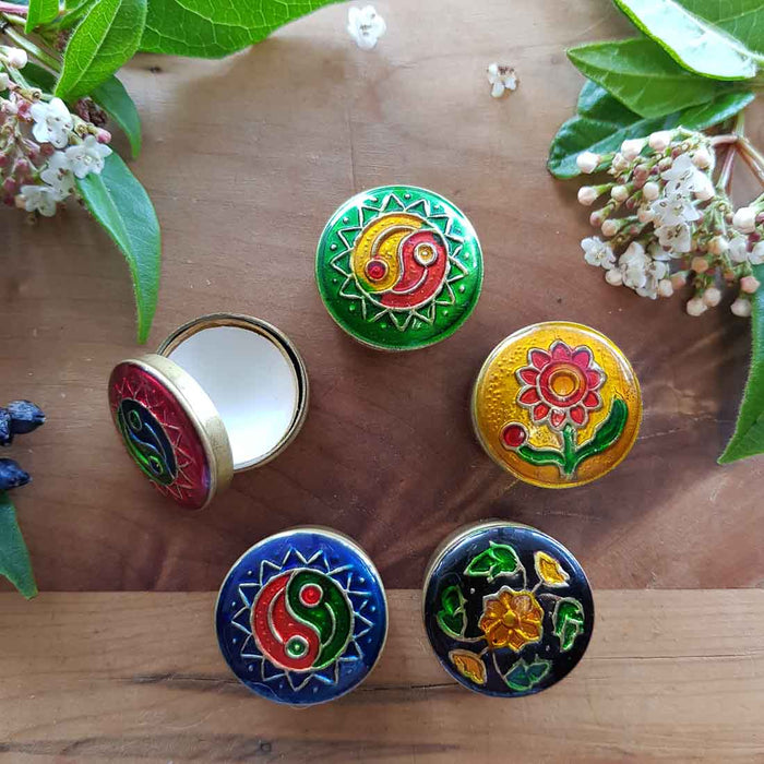 Krishna Musk Natural Solid Fragrance in Cloisonne Tin (Song of India 4gr)