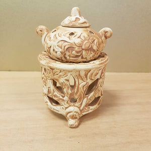 Teapot Oil Burner (2 pieces approx. 13x8x8cm)