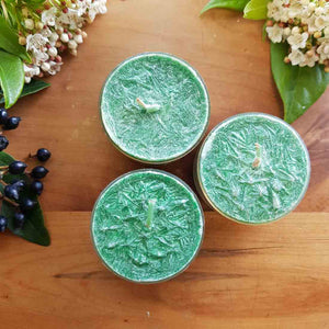 Green Spice Scented Tealight Candle (sustainably grown palm wax) 3-4hrs burn time