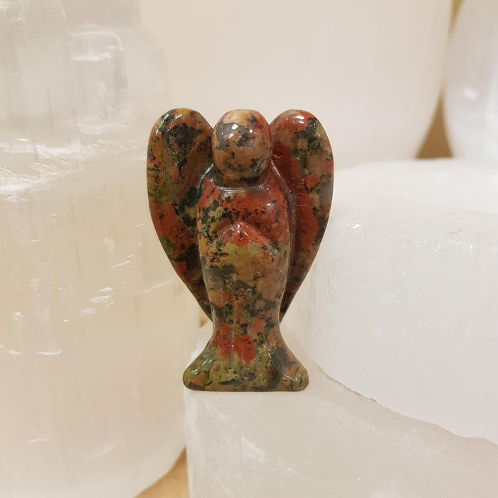 Unakite Angel. (assorted approx 5x3cm)