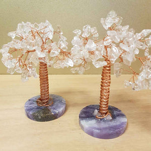 Clear Quartz Tree on Fluorite Base