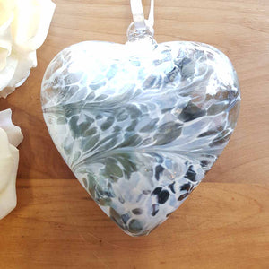 Pastel Silver Hand Crafted Friendship Heart. (approx. 12cm)