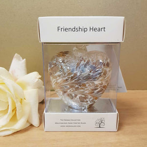 Pastel Gold Hand Crafted Friendship Heart. (8cm)