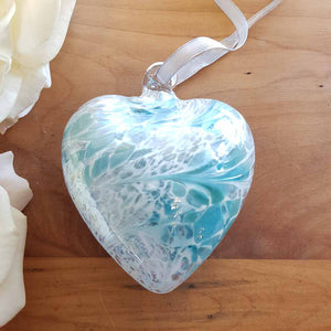 Pastel Blue Hand Crafted Friendship Heart (8cm)
