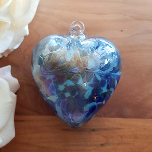 Blue Hand Crafted Friendship Heart (8cm)