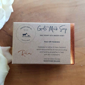 Relaxing Rose with Harekeke Goats Milk Soap. (100gr made in New Zealand)