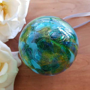 Green & Blue Hand Crafted Friendship Ball. (8cm)