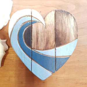 Blue Swirl Heart. (assorted. approx 15x15cm)