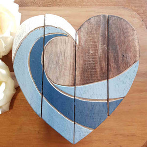 Blue Swirl Heart. (assorted. approx 20x20cm)