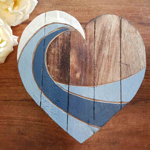Blue Swirl Heart. (assorted. approx 25x25cm)