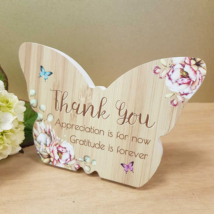 Thank You Butterfly Plaque (approx. 8x10cm)