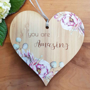 You Are Amazing Heart Wall Plaque. (approx. 15x15cm)