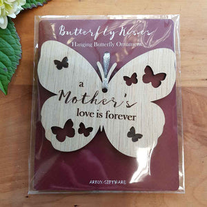 A Mother's Love is Forever Hanging Butterfly. (approx. 8x10cm)