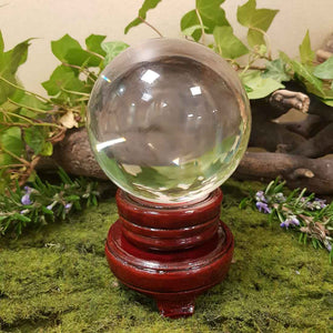 Crystal Ball & Stand (glass approx. 8cm diameter)