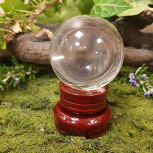 Crystal Ball & Stand (glass approx. 6cm)