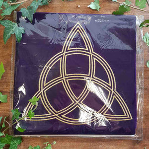 Triple Goddess Velvet Tarot Cloth. (approx 80x80cm)