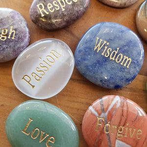 Affirmation Word Stones. (assorted approx. 3-4x3-4cm)