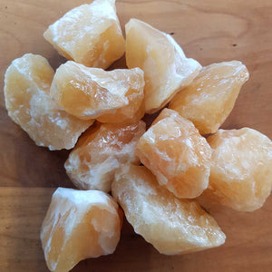 Orange Calcite Rough Rock. (assort. approx. 4-5x3-4cm)