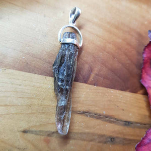 Scapolite Raw Pendant. (set in Sterling Silver)