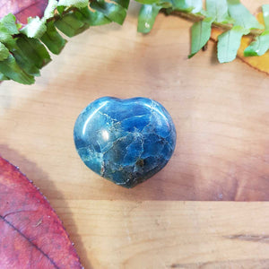 Blue Apatite Heart. (assorted. approx. 3x4cm)