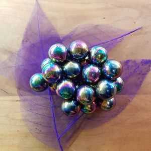 Rainbow Magnetic Ball. (reconstituted hematite assorted approx. 1.8x1.8cm)