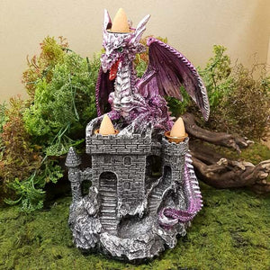 Dragon Castle Backflow Incense Burner. (approx. 21x14cm).