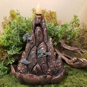 Mountain Backflow Incense Burner. (approx. 17.5x15x11cm)