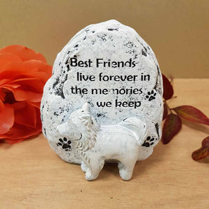 Best Friends Live Forever Dog Memorial. (approx. 9x8cm)