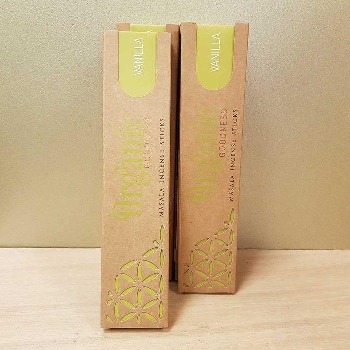 Vanilla Organic Masala Incense Sticks. (Song of India. 15 gr)