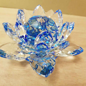 Blue Lotus Crystal. (approx. 12x12x6.5cm)