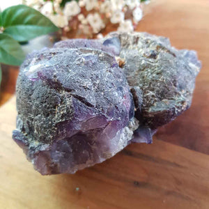 Purple Fluorite Raw Specimen. (approx. 5x10x6cm)