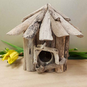 Drift Wood Wall Mounted Bird House. (assorted. approx. 23x18x30cm)