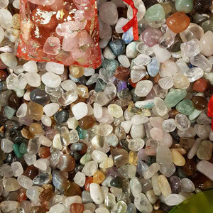 Fill a Bag of Tiny Tumbled Crystals.