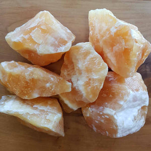 Orange Calcite Rough Rock (assorted. approx 9x7x3cm)