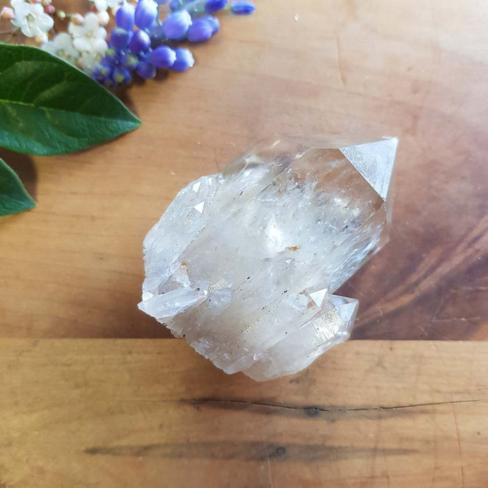 Citrine Point with Cluster. (approx. 6x4.5x3cm)