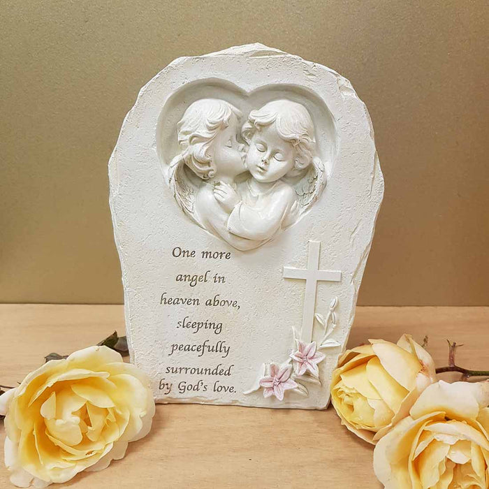 One More Angel in Heaven Memorial. (approx 21x16x5cm)