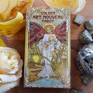 Golden Art Nouveau Tarot Cards.