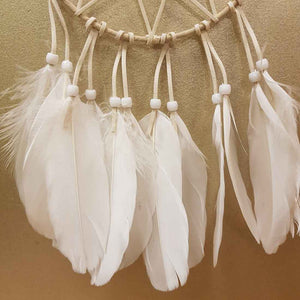 Cream and White Star Dreamcatcher